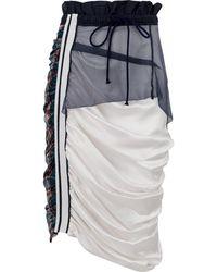 Preen By Thornton Bregazzi Draped Drawstring Skirt - Blue