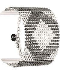Karl Lagerfeld Crystal K Mesh Bracelet - Metallic