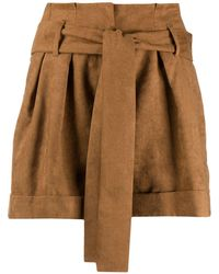 Liu Jo Tie-waist Shorts - Brown