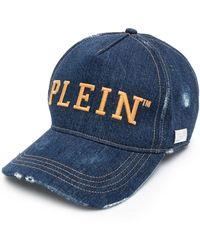Philipp Plein - Jeans-Baseballkappe mit Logo - Lyst