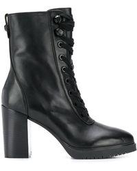 Liu Jo Lace-up Ankle Boots - Black