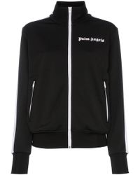 Palm Angels - Striped Logo Embroidered Satin-jersey Track Jacket - Lyst