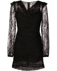 Dolce & Gabbana - Кружевное Платье Мини Со Сборками - Lyst