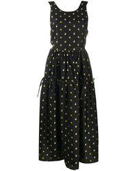 Stine Goya Tulula フローラル ドレス - ブラック