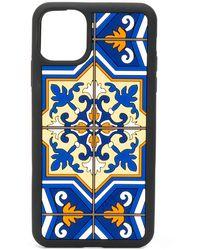 Dolce & Gabbana Iphone 11 Hoesje Met Tegelprint - Zwart