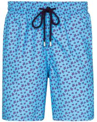 Vilebrequin Moorea Turtle Swim Shorts - Blue