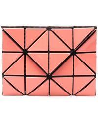 Issey Miyake Portefeuille pliant à empiècements géométriques - Rose
