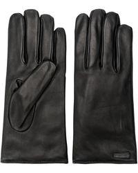 Dolce & Gabbana Logo Patch Gloves - Черный