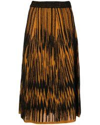 M Missoni - A-line Midi Skirt - Lyst