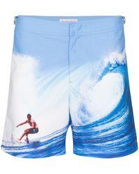 Orlebar Brown Bañador Catching the Wave - Azul