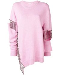 Christopher Kane Maglione con design cut-out - Rosa
