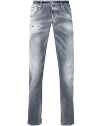 Dondup Slim-fit Jeans Met Faded Effect - Grijs