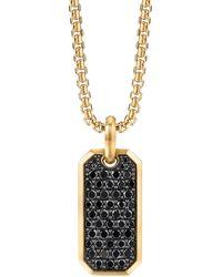 David Yurman Amuleto Roman Elongated en oro amarillo de 18kt con diamantes - Metálico
