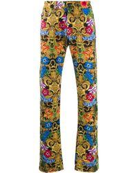 Versace Jeans フローラル ジーンズ - イエロー