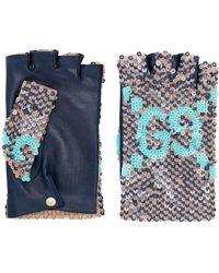 Gucci Vingerloze Handschoenen - Blauw