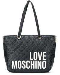 Love Moschino ロゴ ハンドバッグ - ブラック