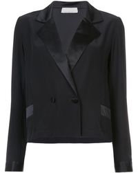 Fleur du Mal Tailored Fitted Blazer - Black