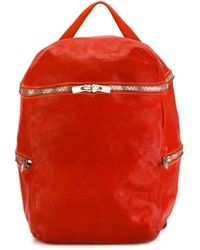 Guidi Top Handle Backpack - Red