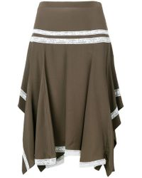 Chloé - Lace-embroidered Flared Skirt - Lyst