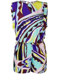 Emilio Pucci - Sleeveless Playsuit - Lyst