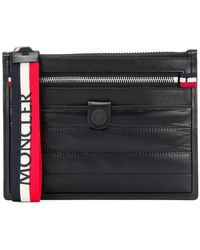 Moncler Zip Top Small Pouch Bag - Black