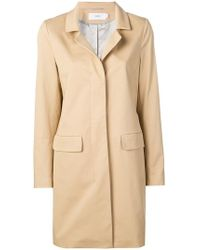 Closed - Concealed Front Coat - Lyst