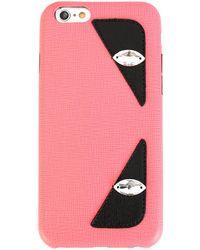 Fendi Чехол Для Iphone 6 Bag Bugs - Розовый