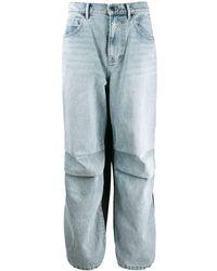 Alexander Wang Pantaloni con inserto denim - Blu