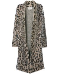 Laneus - Leopard Print Coat - Lyst
