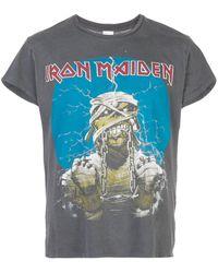 MadeWorn Camiseta Iron Maiden con efecto envejecido - Gris