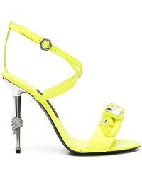 Philipp Plein Crystal-embellished Stiletto Sandals - Black