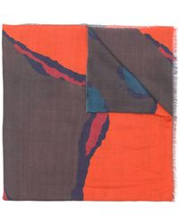 PS by Paul Smith Printed Scarf - Orange