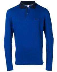 Sun 68 - Contrast Collar Polo Shirt - Lyst
