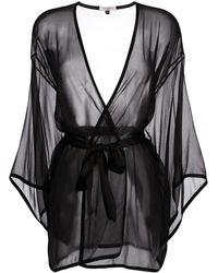 Gilda & Pearl Ava Silk Kimono - Black