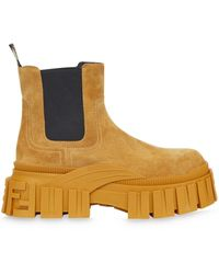 Fendi Chelsea-Boots mit dicker Sohle - Gelb