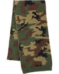 Miu Miu Camouflage Print Knitted Scarf - Gray