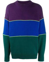 ADER error Colour Block Sweater - Purple