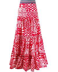 Stella Jean Rock mit geometrischem Print - Rot