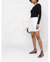 Fabiana Filippi High-waist Cashmere Shorts - Blue