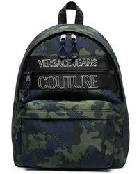 Versace Jeans Couture Rucksack mit Camouflage-Print - Grün