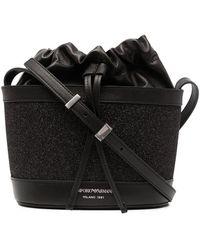Emporio Armani Logo-print Bucket Bag - Black