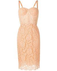 Dolce & Gabbana Jurk Met Bloemenkant - Oranje