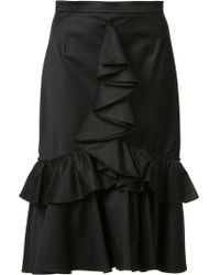 TOME - Ruffle Skirt - Lyst