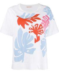 Marni - リーフプリント Tシャツ - Lyst