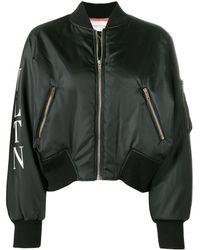 Valentino Cropped Bomber Jacket - Black
