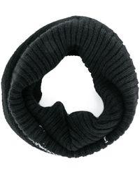 Julius Fine Knit Neck Warmer - Black