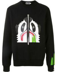 A Bathing Ape Panda Pan スウェットシャツ - ブラック