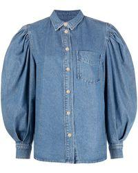 Essentiel Antwerp パフスリーブ シャツ - ブルー