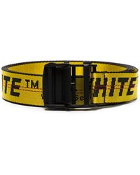 Off-White c/o Virgil Abloh Black And Yellow Industrial Logo Belt
