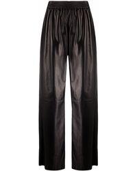 DROMe Pantalon à coupe évasée - Noir